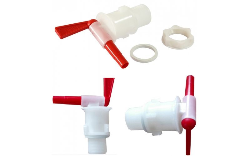 Plastic spigot for home brewing bucket